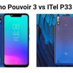 Tecno Pouvoir 3 vs itel P33 Plus
